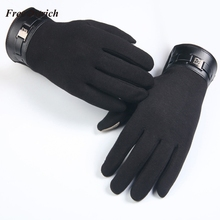 Free Ostrich Mens Full Finger Smartphone Touch Screen Cashmere Gloves M