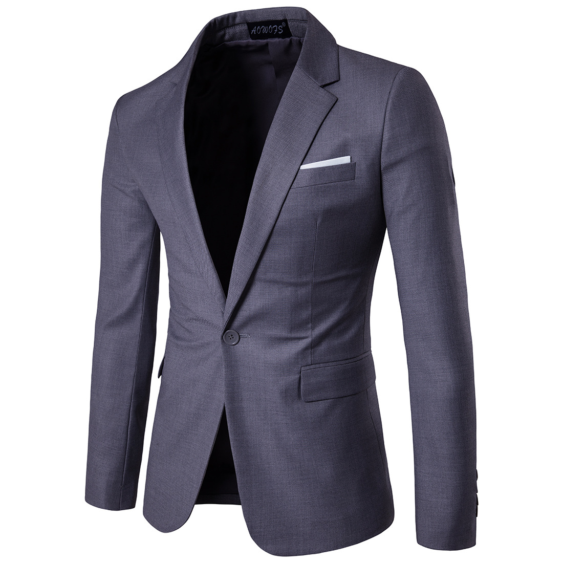 2019 Business Leisure Suit Lang Best Man Wedding One-Button Suit Jacket Men'S Wear 9-Color S-6xl Purple