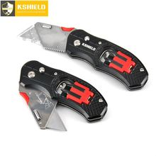 Utility Knife Folding Electrician Knives Cable Cutter Multitool 6 In 1 Multifunction Pocket Screwdriver Bit Set