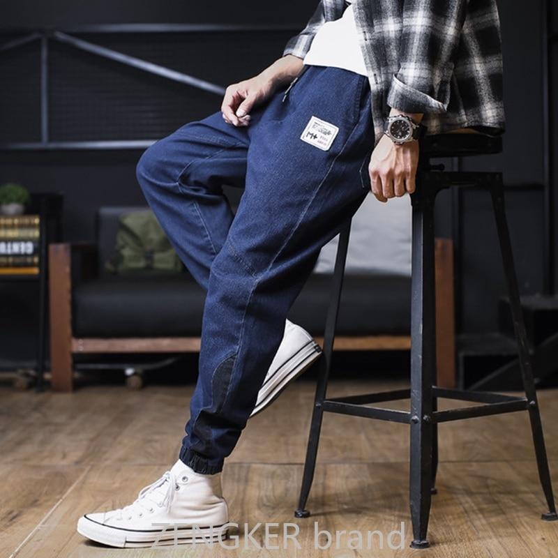 Autumn Jeans Men's Harem Pants Trend Loose 2019 Plus Size XL Casual Beam Trousers 8XL 7XL 6XL