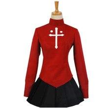 Cosdaddy tohsaka rin terno vermelho destino cosplay traje feminino menina jk uniforme jogo traje