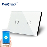 US 2 Gang WIFI Control Touch Switch Wallpad Support Smart Home Alexa Google home IOS Android 2 Gang AU Wall Switch Panel