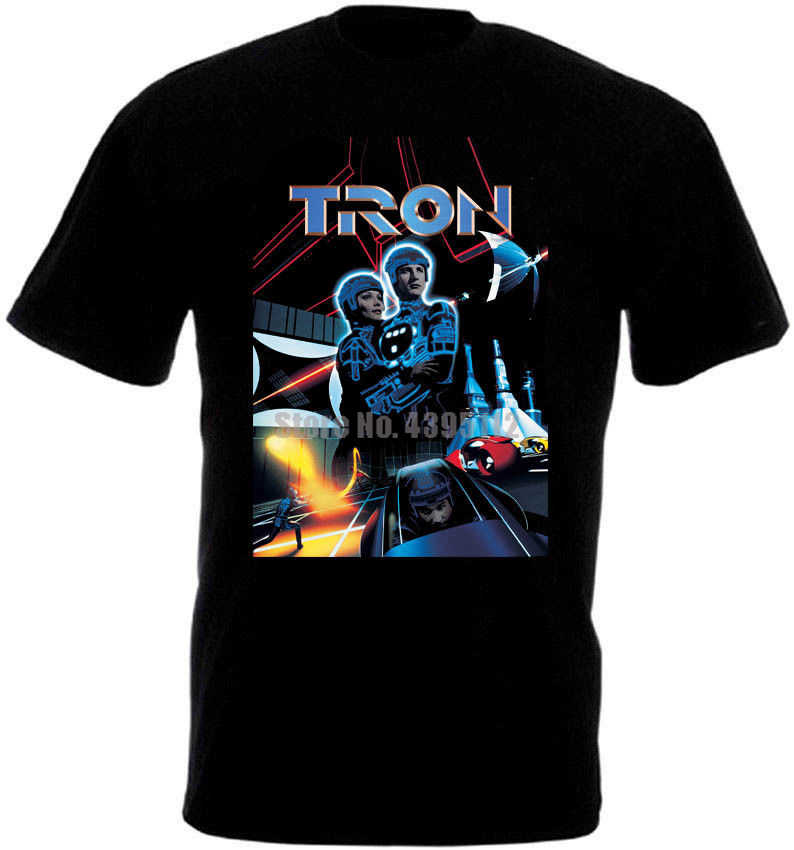 Tron Movie Poster Youth оверсайз рубашка хлопковая рубашка на заказ рубашки модные футболки Mardi Gras одежда Tpzqmz