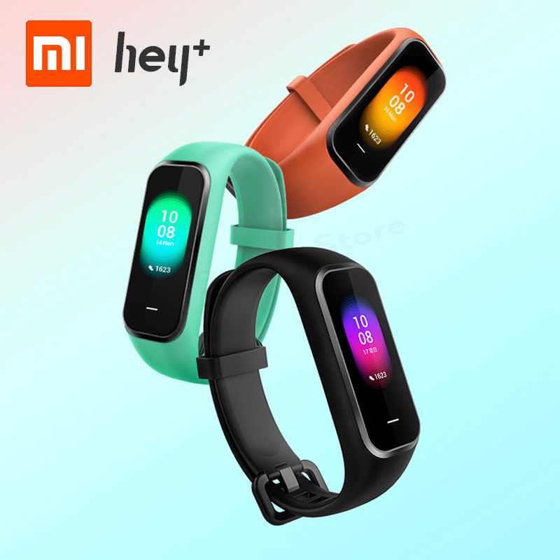 Xiaomi Hey Plus 1S Smartband 0.95 Inch AMOLED Color Screen Builtin Multifunction NFC Heart Rate Monitor Hey+ 1S Band