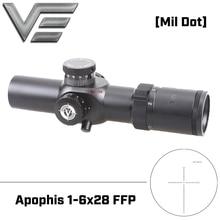 Векторная оптика Apophis 1-6x28 FFP 35 мм тактический прицел AR15 компактный прицел MP MOA сетка для стрельбы