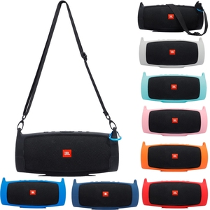 Newest Outdoor Travel Silicone Case Cover Skin With Strap Carabiner for JBL Charge 4 Portable Wireless Bluetooth Speaker(China)