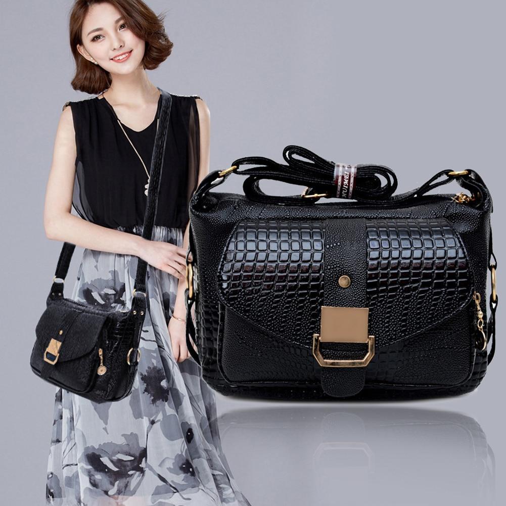 New Fashion Women Handbag Luxury PU Leather Shoulder Bag Soft Handbag Solid Cross Body Bag Zipper Messenger Bag Tote
