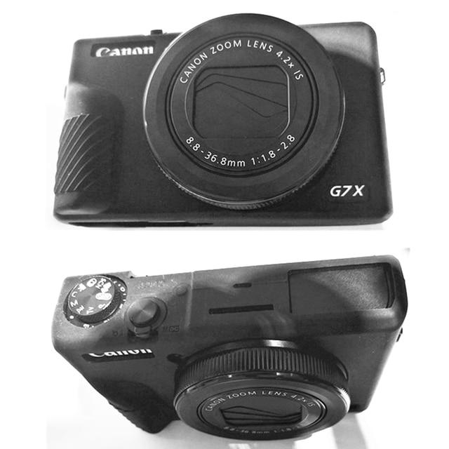 גומי סיליקון מקרה גוף כיסוי מגן מסגרת עור עבור Canon Powershot G7X סימן III / G7 X Mark III