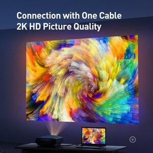 Image 4 - Câble DVI vers DVI Baseus double liaison DVI D mâle vers mâle DVI D 24 + 1 câble vidéo pour projecteur HDTV adaptateur dordinateur câble DVI