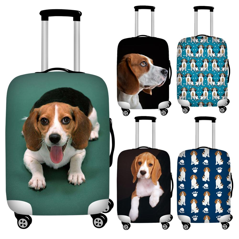 Twoheartsgirl Kawaii Beagle Dog Print Luggage Protective Dust Covers Lovely 18-32inch Travel Suitcase Cover Baggage Protector