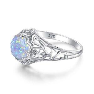 Image 3 - Женское кольцо с опалом Szjinao, винтажные кольца из стерлингового серебра 925 пробы с драгоценными камнями, роскошные брендовые ювелирные украшения, свадебный подарок 2020