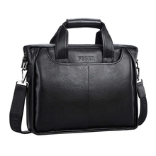 FEGER Men's Genuine Leather Shoulder Bag Brand Men Shoulder Bag Business Handbag