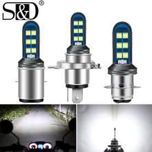 Ampoules de phare de Moto H4, feux antibrouillard DRL, lumière blanche, faisceau Hi Lo, H6 BA20D P15D H6W, 12V