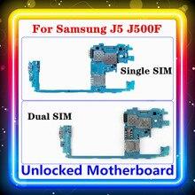 삼성 갤럭시 J5 J500F 마더 보드 싱글/듀얼 SIM 전체 칩 로직 보드 메인 보드 오리지널 교체 J500FD/DS