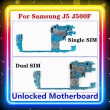 Samsung Galaxy J5 J500F anakart tek/çift SIM ile tam cips mantık kurulu anakart orijinal yerine J500FD/DS