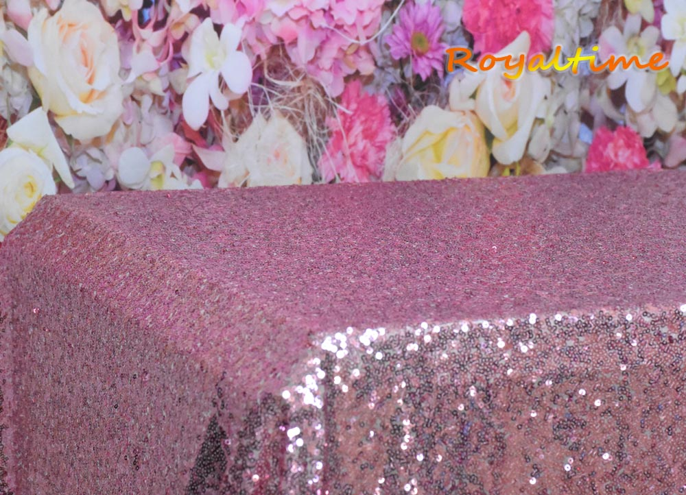 Pink Gold Sequin Tablecloth 003