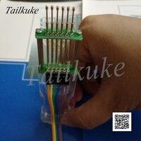 Simulação de programação download ferramenta queimadura tipo pressão mão pcb teste dispositivo elétrico ferramentas jtag