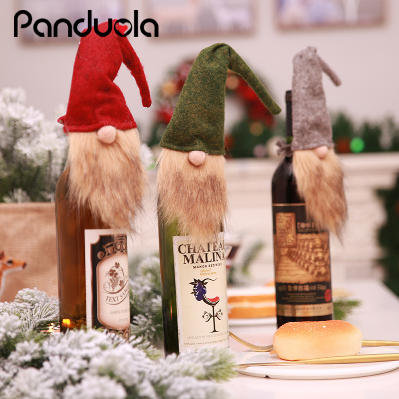 Wine Champagne Bottle Covers 2020  New Year's Christmas Decorations Santa Claus Bottle Bags Gifts Holder For Party Xmas Festival