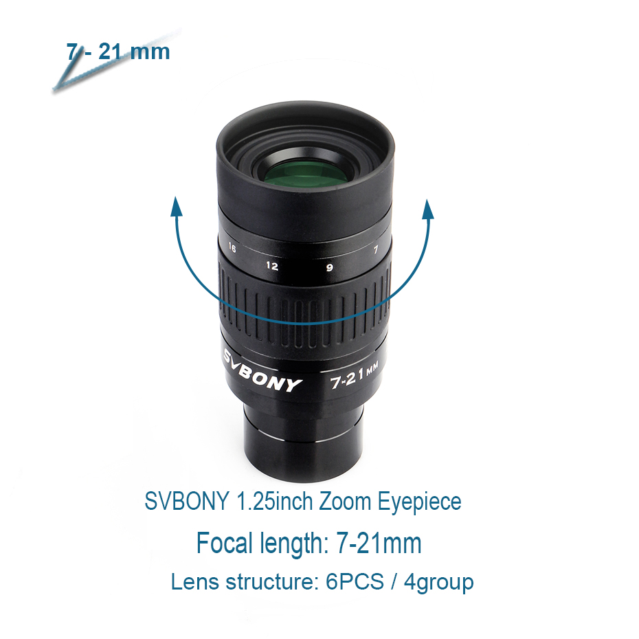 Broadband 1 30mm Barrel 24mm Metal Multicoating Eyepiece 10 W9130A Telescope 7 Zoom SVBONY And 8 Full 21mm 25inch