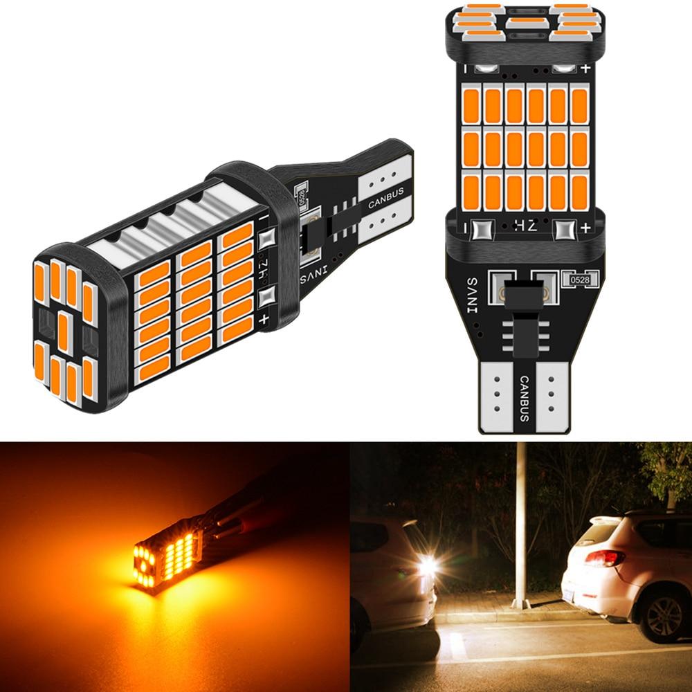 2pcs T15 T16 W16W 921 912 Led 1200Lm LED Canbus Car Backup Reserve Lights Bulb Tail Lamp For BMW AUDI FORD KIA LADA White Amber