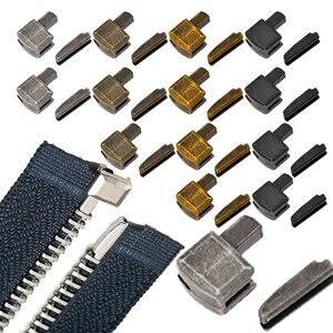 5 шт., металлические пробки для молнии, с открытым концом