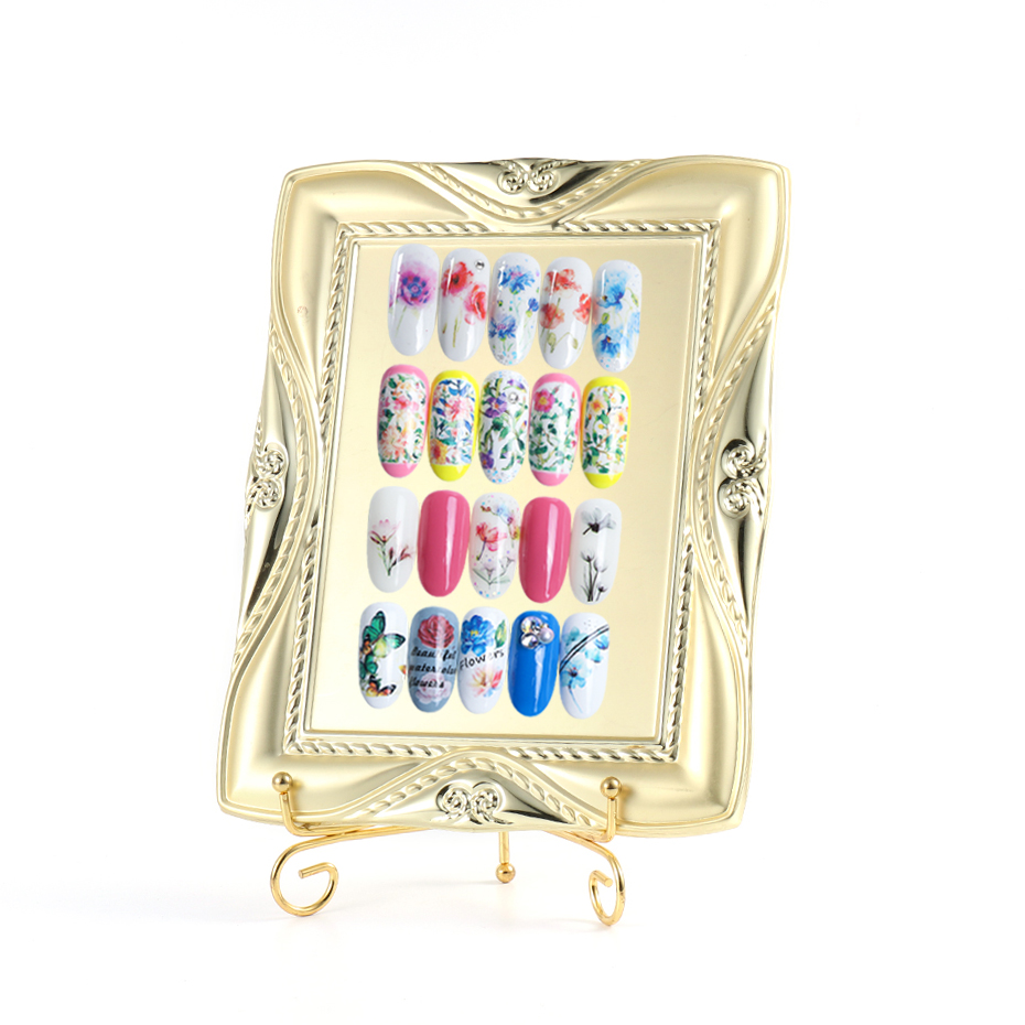 Professional Nail Art Display Metal Frame For Nail Gel Polish Mixed Color Display Tips Nail Art Showing Tool For Manicure TR1584