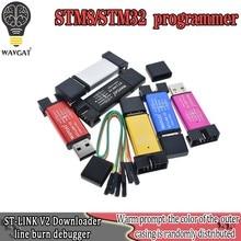 St-link v2 novo stlink mini stm8stm32 stlink simulator download de programação com capa