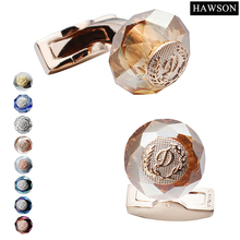 Luxury Rose Gold Plated Cuff links Fashion Jewelry Wedding Cuff links For Men bell cuff rose print mesh top