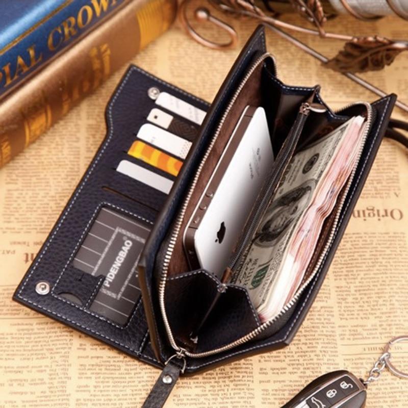 PIDENGBAO Mens Purses Wallet Men Wallets Leather Purse Carteras Carteira Masculine Walet Clutch Portefeuille Homme Monedero