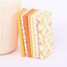 Tissu en coton à imprimés floraux 50x50, 7 pièces, étoffe pour couture et matelassage de robes, Patchwork fait à la main