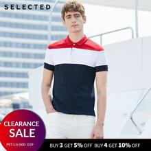 SELECTED Men Summer Contrasting Turn-down Collar S
