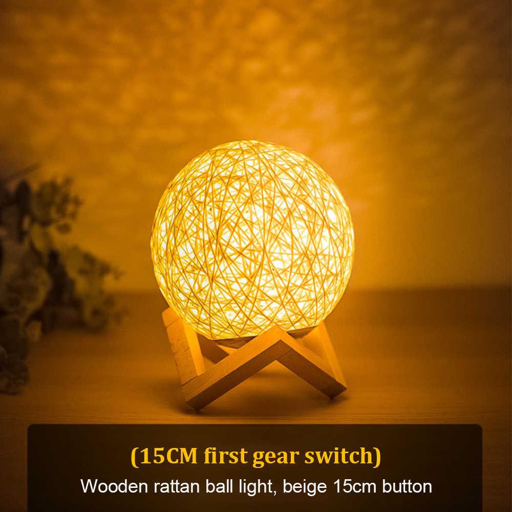 Luz de noche led usb 0-5w Luna lámpara de noche sensor de inodoro ligh azul amarillo Luna creativa Año Nuevo decoración de dormitorio con luz de regalo