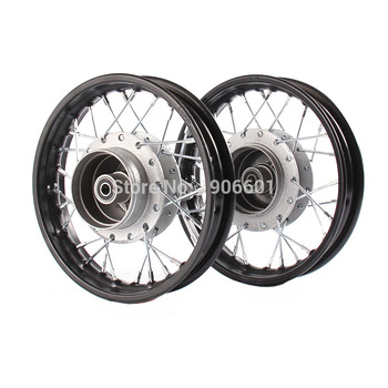 Front and Rear 10 inch Aluminum Alloy Wheel Rims Drum Brake hub for KTM CRF Kayo BSE Apollo Axle hole 12mm