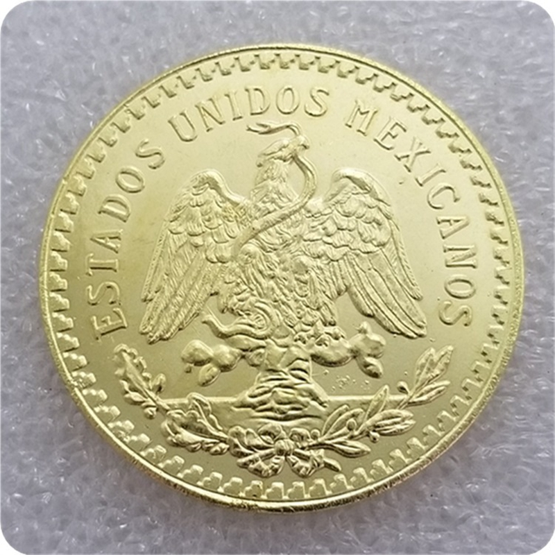NEW 1821-1921 Mexico 50 Pesos Coins COPY 37mm Gold Plated Coins Old Coin For Collection Gift Token Drop Shipping