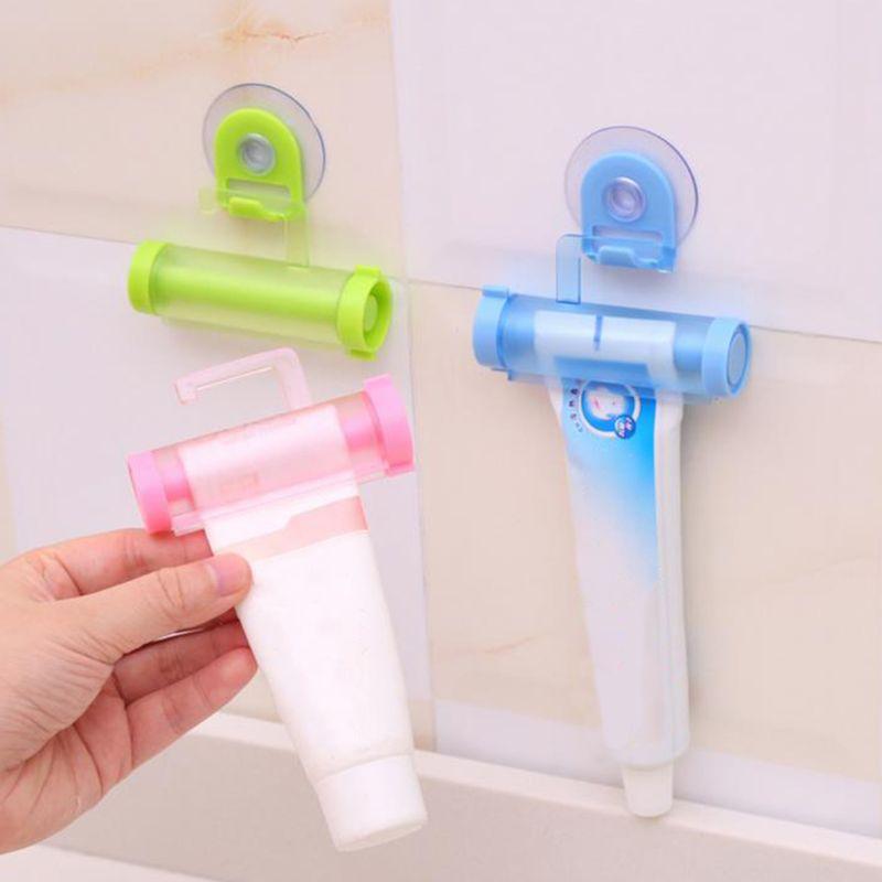 5 Pcs/Set Rolling Toothpaste Dispenser Tube Squeezer Sucker Holder Hanger Gadget