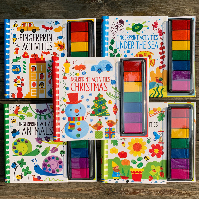 criancas fingerprinting livros com selos de borracha almofada de tinta criancas atividades rabiscando livro jardim de