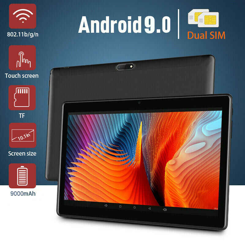 4G LTE WIFI Tablet Android 9.0 Pad 2.5D 10.1 inç HD ekran WIFI Metal Tablet PC çift kamera on çekirdek 4G ağ