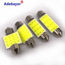 100X31 мм 36 мм 39 мм 42 мм C5W Автомобильный светодиодный фестон светильник COB 12 чипов авто супер яркая гирлянда из початков карта/купол/внутренний светильник S Adebayor
