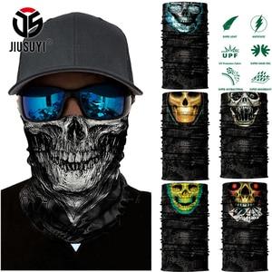Seamless Balaclava Magic Scarf Neck Face Cover Ghost Skull Skeleton Head Bandana Shield Headband Headwear Bandanas Men Bicycle(China)