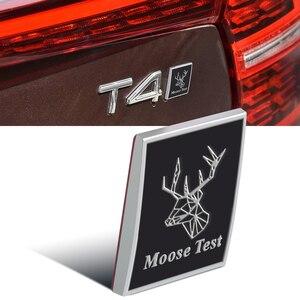Image 5 - Metall Auto Grill Logo Emblem Moose Test Deer Aufkleber 3D Für Volvo S70 S80 S90 C30 XC40 XC60 XC70 XC80 XC90 V40 V50 Stamm Dekor