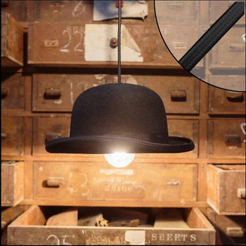 Modern İskandinav tarzı kapalı kolye ışık kumaş kap şapka LED lamba restoran cafe shop bar dekorasyon ışıklandırma fikstür AC110-265v