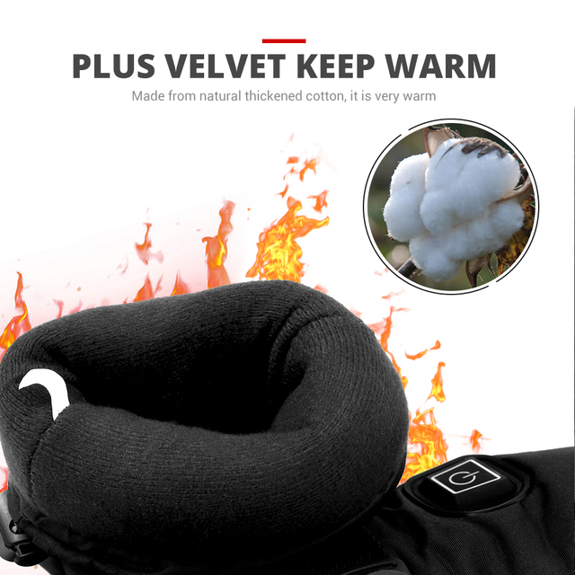 HEROBIKER Motorcycle Gloves Heated Guantes Waterproof  Moto Touch Screen Battery Powered Motorbike Racing Riding Gloves Winter##