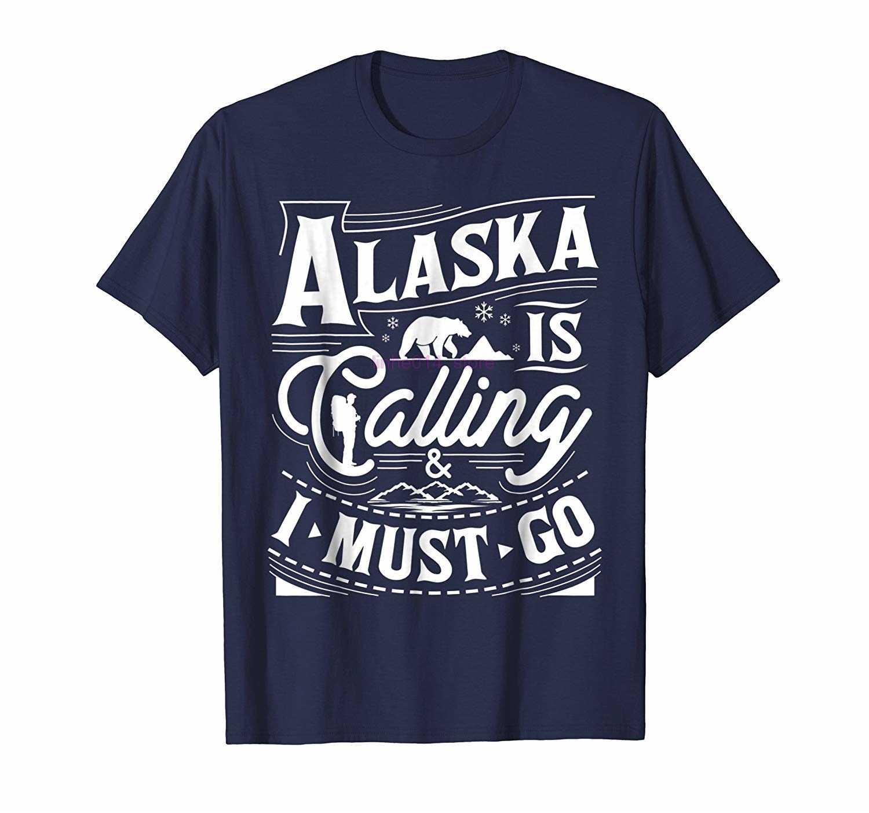 Merk Mannen Shirt Alaska Is Bellen Ik Moet Gaan T-shirt Alaska Shirt