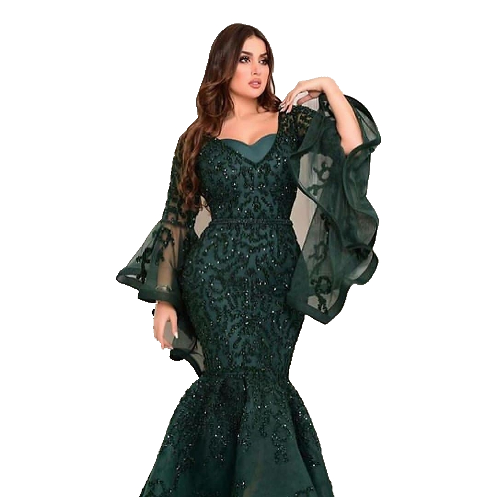 Closeout DealsÁProm-Dresses Evening-Gowns Robe-De-Soiree Arabic Mermaid-Dubai Formal Sexy Long Saudi