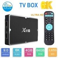 2019 NOVA Inteligente CAIXA de TV Android 4 6K K HD 3D 4G RAM64GB X96H wifi Android 9.0 TV CAIXA VS X96mini X96max|Conversor de TV| |  -