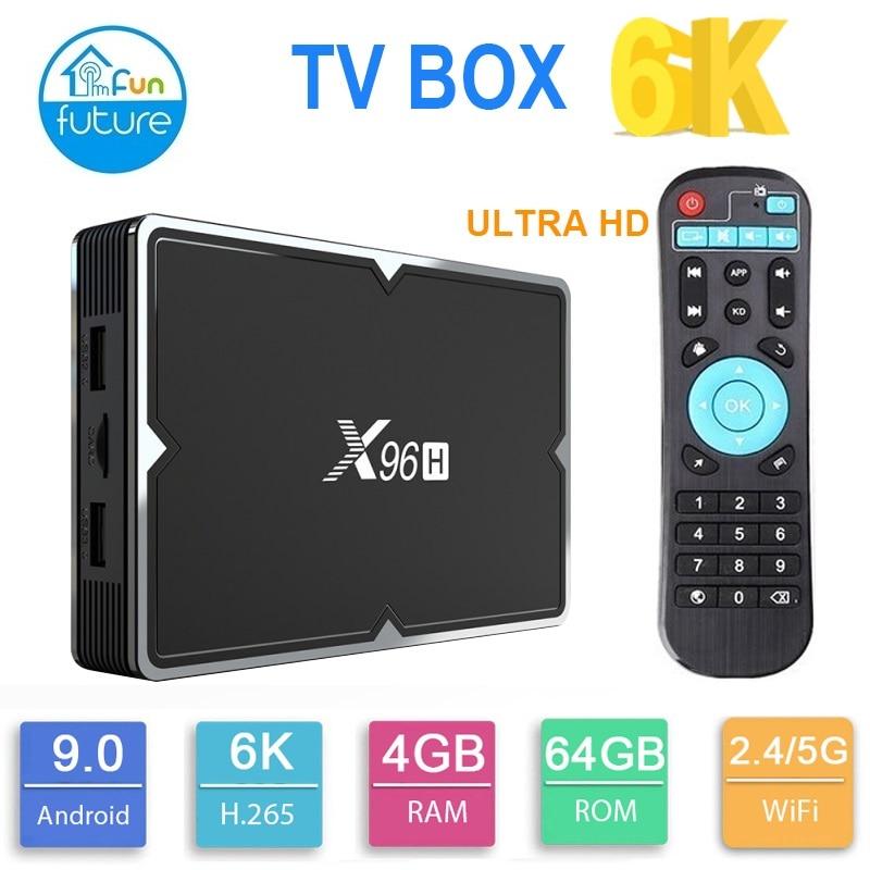 2019 nouveau Smart Android TV BOX 6K 4K HD 3D 4G RAM64GB X96H wifi Android 9.0 TV BOX VS X96mini X96max