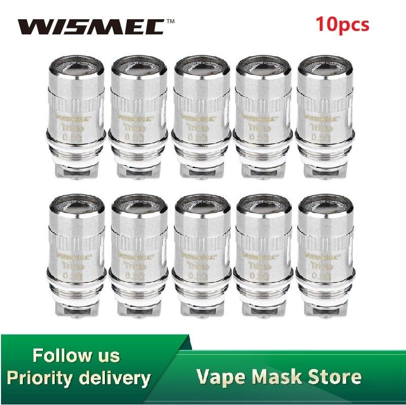 Original 10pcs WISMEC Triple Head 0.2ohm Coils For WISMEC Amor Mini/Plus/Vicino/D30/Reux Mini, Elabo/Mini/SW/Divider Atomizer