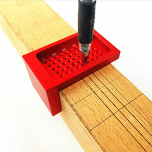 L-type Ruler Measuring Tool Scriber Woodworking Hole Positioning Crossed Gauge Aluminum Alloy