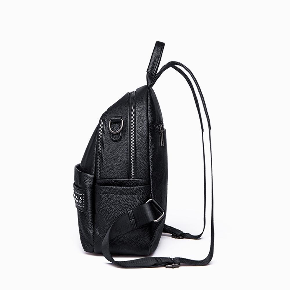 YUPINXUAN большой емкости холщовые кожаные рюкзаки для подростков водонепроницаемые школьные рюкзаки большой износостойкий рюкзак из парусин... - 6