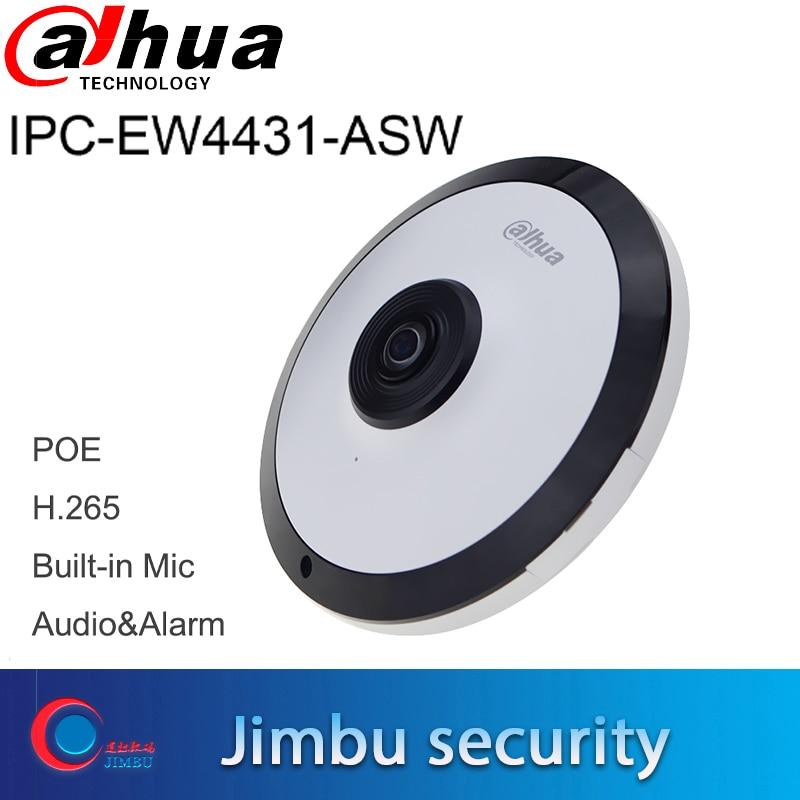 Dahua 4MP IPC-EW4431-ASW wifi рыбий глаз ip-камера POE Встроенный микрофон слот для sd-карты аудио интерфейс сигнализации панорамная сетевая камера
